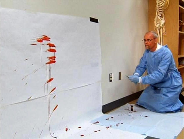 blood splatter analysis Bloodstain pattern analysis (bpa), known in the criminal justice field as blood splatter analysis, has been studied since the 1890s blood splatter, or bloodstain pattern constructional readings, is a technique that seeks to piece together the incident that caused an individual's bleeding understanding blood splatter on a wall.
